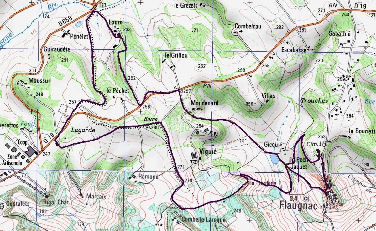Flaugnac 10200 m